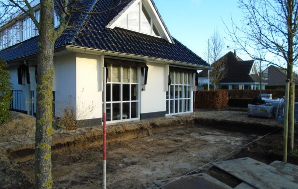 Aanleg tuin in Ommeren