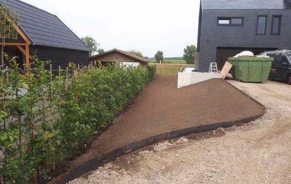 Aanleg van een tuin in Ooijen