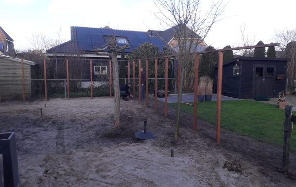 Aanleg achtertuin in Lienden