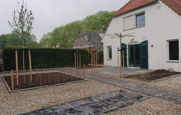 Aanleg tuin in Kerkwijk
