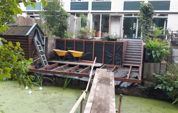 Aanleg achtertuin in Veenendaal